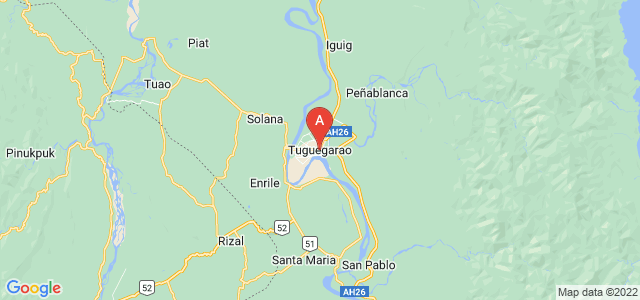 map of Tuguegarao, Philippines