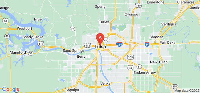 map of Tulsa, United States of America