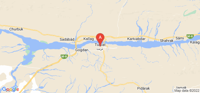 map of Turbat, Pakistan