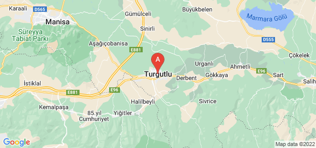 map of Turgutlu, Turkey
