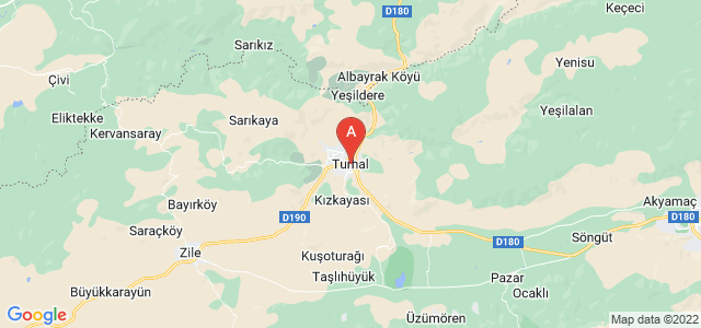 map of Turhal, Turkey