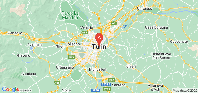 map of Turin, Italy