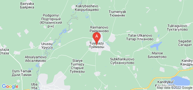 map of Tuymazy, Russia