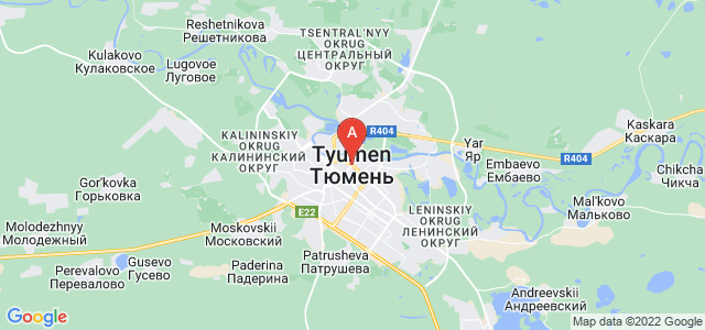 map of Tyumen, Russia