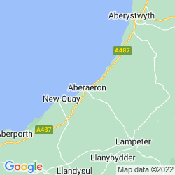 Map of Aberaeron