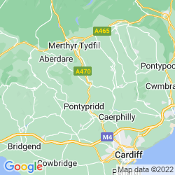 Map of Abercynon