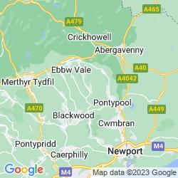 Map of Abertillery