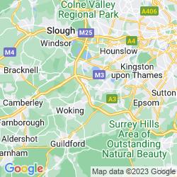 Map of Addlestone