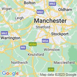 Map of Altrincham