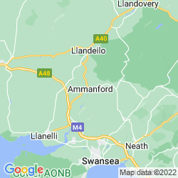 Map of Ammanford