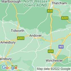 Map of Andover