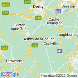 Map of Ashby-de-la-Zouch