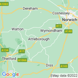 Map of Attleborough