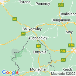 Map of Aughnacloy
