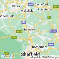 Map of Barnsley