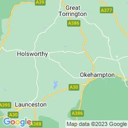 Map of Beaworthy