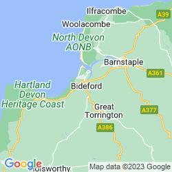 Map of Bideford