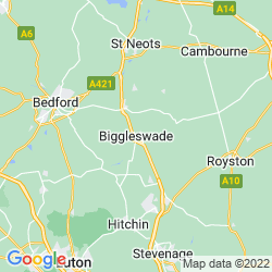 Map of Biggleswade