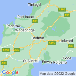 Map of Bodmin