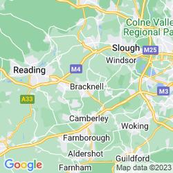 Map of Bracknell