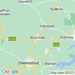 Map of Braintree