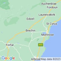 Map of Brechin