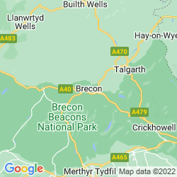 Map of Brecon