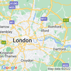 Map of Bromley By Bow