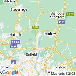 Map of Broxbourne