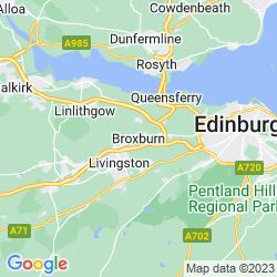 Map of Broxburn