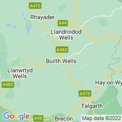 Map of Builth Wells