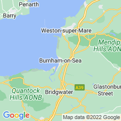 Map of Burnham-on-Sea