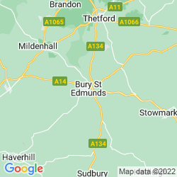 Map of Bury Saint Edmunds