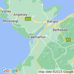 Map of Caernarfon
