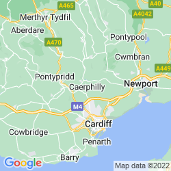 Map of Caerphilly