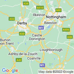 Map of Castle Donington