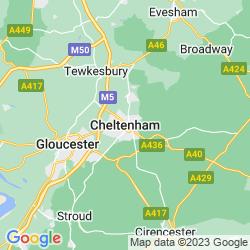 Map of Cheltenham