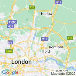 Map of Chingford
