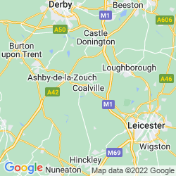 Map of Coalville