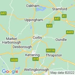 Map of Corby