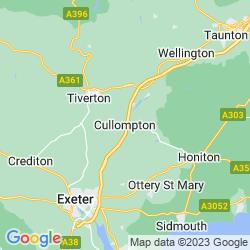 Map of Cullompton