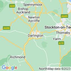 Map of Darlington