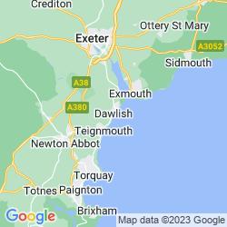 Map of Dawlish