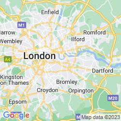Map of Deptford