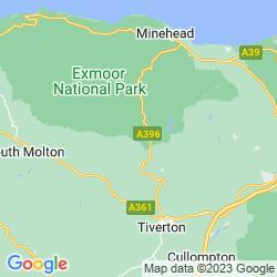 Map of Dulverton