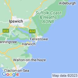 Map of Felixstowe