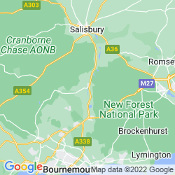 Map of Fordingbridge