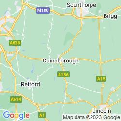 Map of Gainsborough