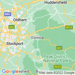 Map of Glossop