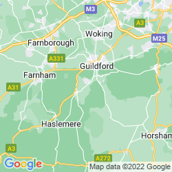 Map of Godalming